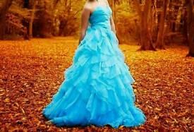 Blue prom dress size 4
