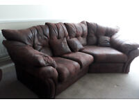 Lebus Florida cosy corner Settee, armchair, footstool and matching cushions