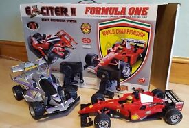 Exciter II off-road and Formula One F1 Remote Control RC Cars- large