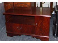 Dark wood TV unit 515 mm x 380 mm x 355 mm