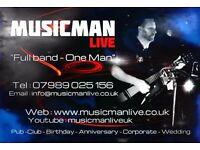 **PUB/CLUB/FUNCTION SINGER GUITARIST AVAIL- FULL BAND SOUND!