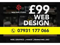 ⭐ Website Design as little as £99 | Designer | Cheap Graphic | Web | Videos | Freelance developer