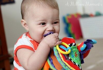Toys with different colours, textures and teething rings are ideal for this age group