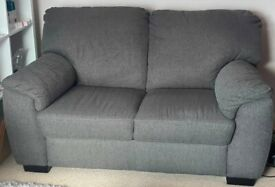 Pair of 2 seater Sofas - Charcoal Fabric - Milano