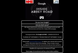 NME - Google Inside Abbey Road Promo Event