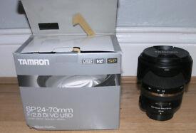 Tamron AF SP 24-70mm f/2.8 Di VC USD, Nikopn F mount