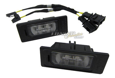 2x Original Audi LED License Plate Light+Canbus Connection Adapter Cable #8K