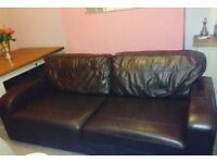 Great Brown leather sofa.