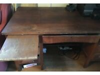 Sold Dark Wooden Desk with lots of Drawers