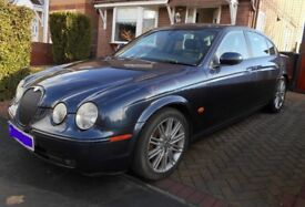 Jaguar S Type Sports Diesel. 2.7 Automatic. Dark Blue. 2006 (56 Plate) Leather Interior