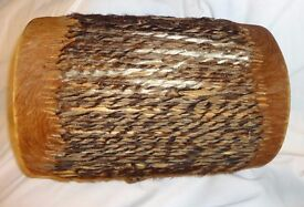 CHARITY SALE: African goats skin drum, in good condition. Money to rescue homeless cats and dogs.