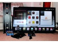 """50"""" 3D LG TV with SIX pairs of 3D Glasses, PANASONIC 3D BLUERAY DVD PLAYER and SEVEN 3D BLUERAY DVDs"""