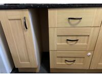 Kitchen units, double range cooker, sink and tap