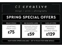 Graphic & Web Designer - Spring Sale Now On!