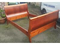 Sleigh Bed Frame - Double