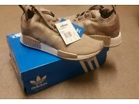 New in Box! Adidas NMD R1 Vapour Grey / French Beige / Tan / UK 9.5