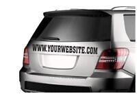 Custom Website Banner Personalized Vinyl Decal Sticker DieCut Car Van Pickup