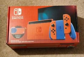 Brand new Limited Edition Nintendo Switch Mario edition plus extra controllers