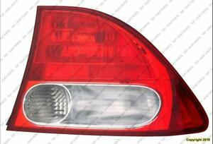 Tail Light Passenger Side Sedan Honda Civic 2009-2011