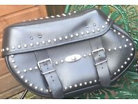 Harley Davidson saddle bags open to offers
