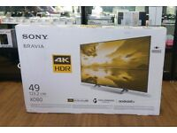"SONY BRAVIA XD80 4K HDR 49"" SMART TV BRAND NEW SEALED WITH WARRANTY AND RECEIPT"