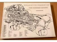 Rolls Royce Pegasus 103 Harrier Engine 1000 Piece Jigsaw Puzzle. Complete & VGC.