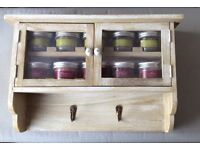 BRAND NEW - WOODEN SPICE RACK (still boxed)