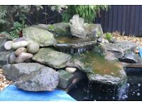 waterfall and pond filtration system
