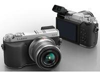 Panasonic Lumix GX7 mirrorless camera +Lens 14-42mm (wifi, tilt screen, viewfinder)