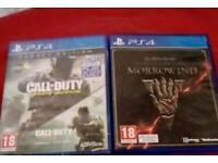 2x PlayStation 4 Games COD MORROWIND