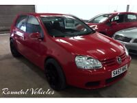 """2007 57 Volkswagen Golf 1.6 Fsi 5 dr in RED with black 18"""" RS6 style alloys, history and LONG mot!"""