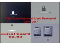 Unlock EFI Macbook Password iCloud Pin Reset Service All Models £50