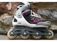 Pink Grey and White Womens inline skates