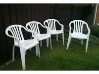 4 X stackable Garden chairs