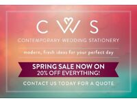 Affordable Wedding Stationery with a Modern and Fresh Look