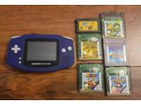 Nintendo Game boy Advance with 6 games