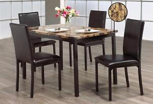 5 Pcs Marble Dining Table Set (Best price Pay on delivery)