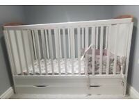 Cot bed and nursery furniture set