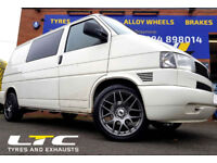 DRC DRM 18″ Gun Metal Alloy Wheels fitted to VW Transporter T4 Van!