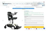 Electric Wheelchair, Travelux Venture Compact Elevating Power Chair, Like a NEW, Free delivery