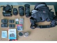 Canon EOS 400D camera and Accesories