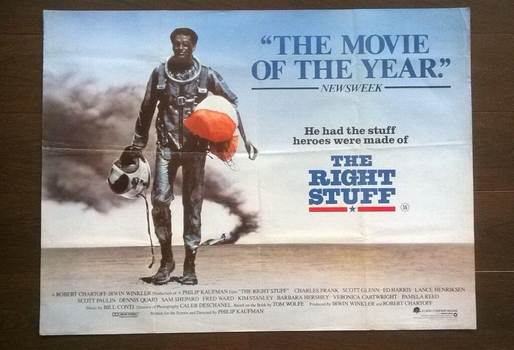 the right stuff ' original cinema poster