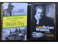 BRIAN WILSON and MIKE LOVE autobiographies