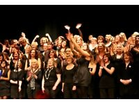 Learn to sing with a 150 strong pop, soul & gospel choir! Shower singers welcome!