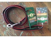 NEW Karlie Art Leather Dog Leather Lead, S size