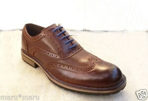 $95 New Mens APT. 9 Nathan Wingtip 10.5 BROWN Leather Shoes oxford dress