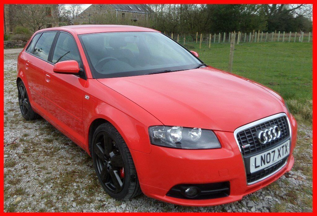 audi a3 s line 2 0 tdi 170bhp sports back full leather 2007 12 months mot a4 a5 a6 tt vw s3 in. Black Bedroom Furniture Sets. Home Design Ideas