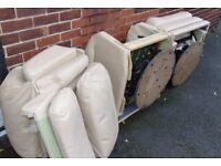 free bonfire wood / scrap metal two recliner armchairs