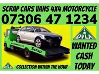 ♻️ SCRAP CAR VAN WANTED CASH ON COLLECTION SELL MY DAMAGED NON RUNNER NO MOT