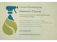 Domestic Cleaner Banbury, Brackley and Bicester